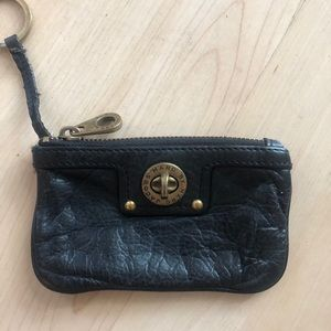 MARC BY MARC JACOBS BLACK LEATHER COIN PURSE